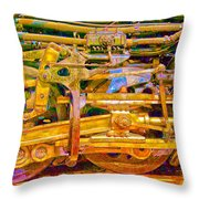 Steam Engine Linkage 3 Throw Pillow