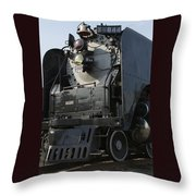 Steam Engine U P 844 Throw Pillow