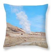 Steam From Earth Throw Pillow