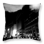 Steam Heat - New York At Night Throw Pillow