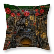 Steam Locamotive Controls Throw Pillow