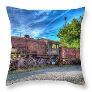 Steam Locomotive No 1151 Norfolk And Western Class M2c Throw Pillow