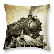 Steam Locomotive No. 334 Throw Pillow