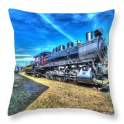 Steam Locomotive No 4 Virginian Class Sa  Throw Pillow