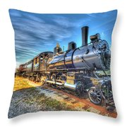 Steam Locomotive No 6 Norfolk And Western Class G-1 Throw Pillow