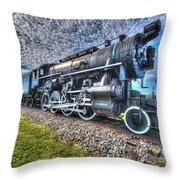 Steam Locomotive No 606 Throw Pillow