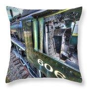 Steam Locomotive Norfolk And Western  No. 606 Throw Pillow
