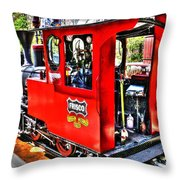 Steam Locomotive Old West V2 Throw Pillow