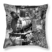 Steam Locomotive Old West V3 Throw Pillow