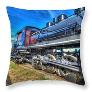 Steam Locomotive Virginian Class Sa No 4 Throw Pillow