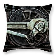 Steam Power Throw Pillow by Olivier Le Queinec