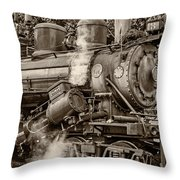 Steam Power Sepia Throw Pillow