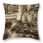 Steam Power Sepia Vignette Throw Pillow