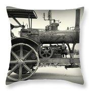 Steam Power Tractor Throw Pillow