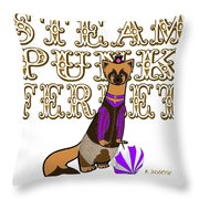 Steam Punk  Ferret 2 Throw Pillow