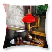 Steam Punk - Victorian Suite Throw Pillow by Mike Savad