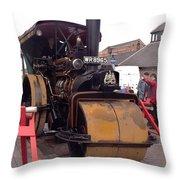 Steam Roller Throw Pillow