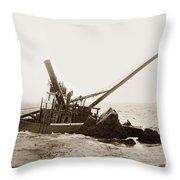 Steam Schooner Celia Steam SchoonerBuilt In 1884Lost At Pt Joe Throw Pillow