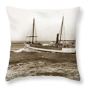 steam-schooner Elizabeth circa 1914 Throw Pillow