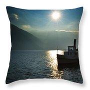 Steam Ship Throw Pillow