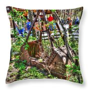 Steam Shovel Bucket Throw Pillow