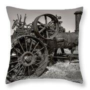 Steam Tractor - Molson Ghost Town Throw Pillow