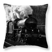 Steam Train Throw Pillow