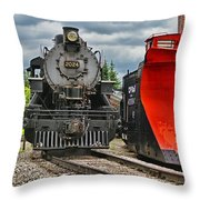 Steam Train Tr3637-13 Throw Pillow