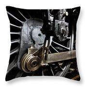 Steam Train Wheels Close Up Throw Pillow