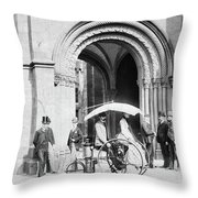 Steam Tricycle, 1888 Throw Pillow