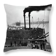 Steamboat, C1900 Throw Pillow