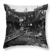 Steamboat Fire, C1910 Throw Pillow