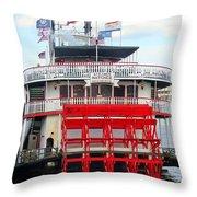 Steamboat Natchez Throw Pillow