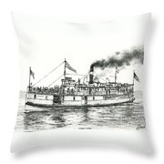 Steamboat Reliance Throw Pillow