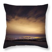 Steamboat Stars And Clouds Throw Pillow