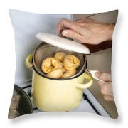 Steamed Pelmeny Throw Pillow