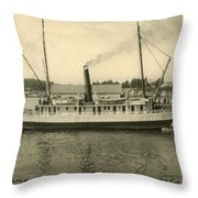 Steamer Eureka At Old Whaf Santa Cruz California Circa 1907 Throw Pillow
