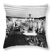 Steamer Interior, C1867 Throw Pillow