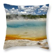 Steaming Throw Pillow