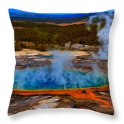 Steaming Rainbow Throw Pillow