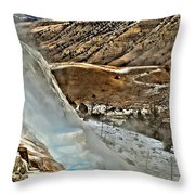 Steaming Steps Throw Pillow