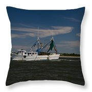 Steaming The Atlantic Throw Pillow