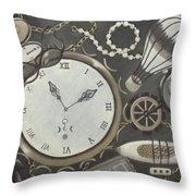 Steampunk Adventure Throw Pillow