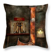 Steampunk - Alphabet - J Is For Jet Pack Throw Pillow