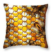 Steampunk - Apiary - The Hive Throw Pillow