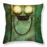 Steampunk - Be Happy Throw Pillow