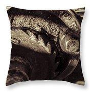 Steampunk Cable Car Brake Throw Pillow
