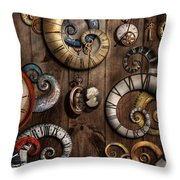 Steampunk - Clock - Time Machine Throw Pillow by Mike Savad