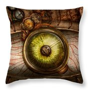 Steampunk - Creepy - Eye On Technology  Throw Pillow