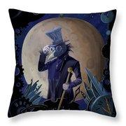 Steampunk Crownman Throw Pillow